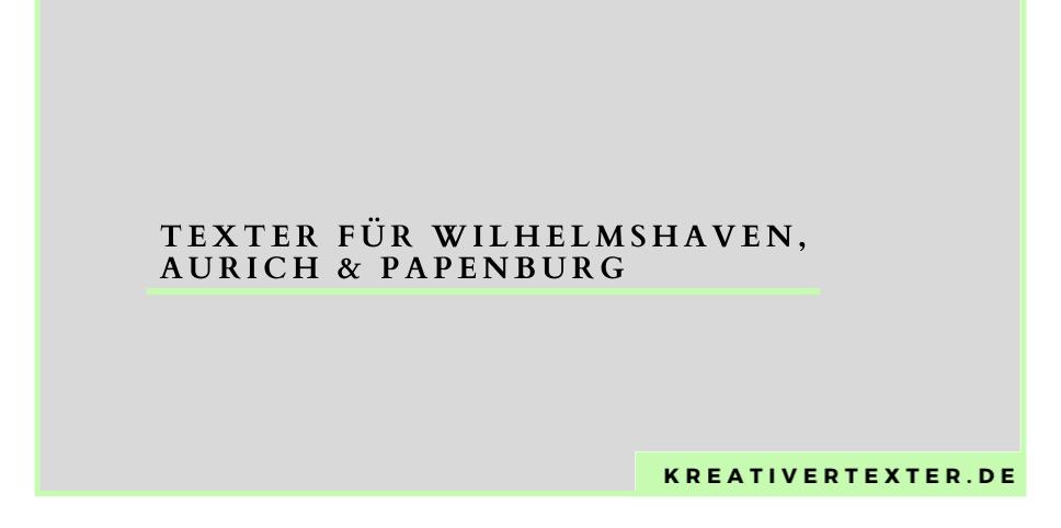 texter-wilhelmshaven-aurich-papenburg
